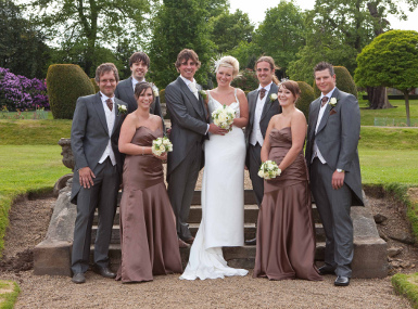 Group Wedding Photography Woolley Hall Wakefield PhotoNeg